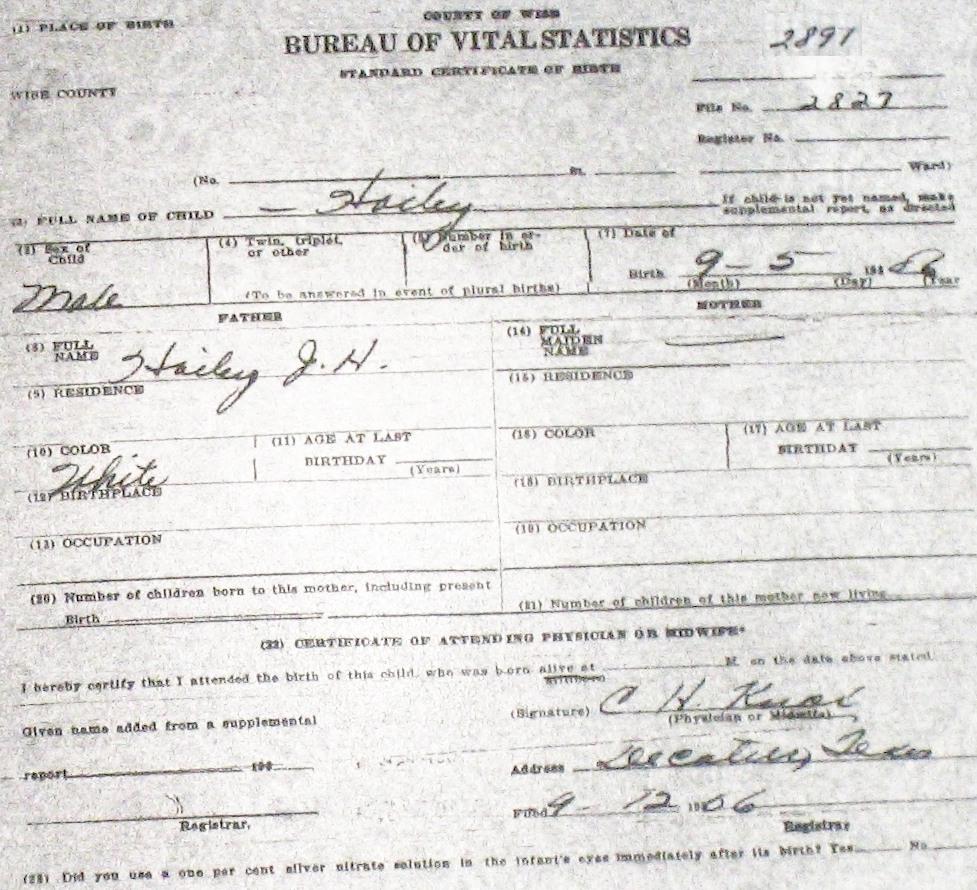 Wise county birth certificates 1900 1930s last names h q hailey garvin price m 22324 bernie tx myrtle tx lowrie chico birthcert 8015g birthcert 8015ag hailey wanda rose f 42027 bernie 1betcityfo Gallery